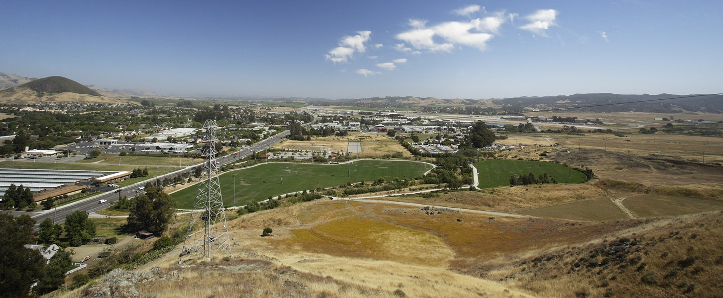 PARADISE SAVED? :  A referendum could prevent Prado Road from bordering the Damon-Garcia sports fields and linking up with Broad Street. - PHOTO BY STEVE E. MILLER