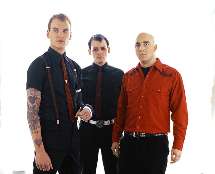 DARK PUNK :  Alkaline Trio brings their dark-edged punk rock to Downtown Brew on June 5 for an all-ages show. - PHOTO COURTESY OF ALKALINE TRIO