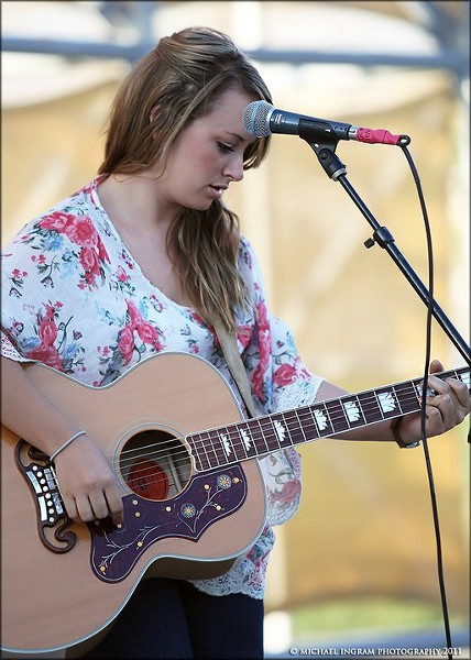 TRUTHFUL TUNES :  Southern Californian Ashlee Morton works her magic at Linnaea's in downtown SLO on Sept. 4. - PHOTO COURTESY OF ASHLEE MORTON