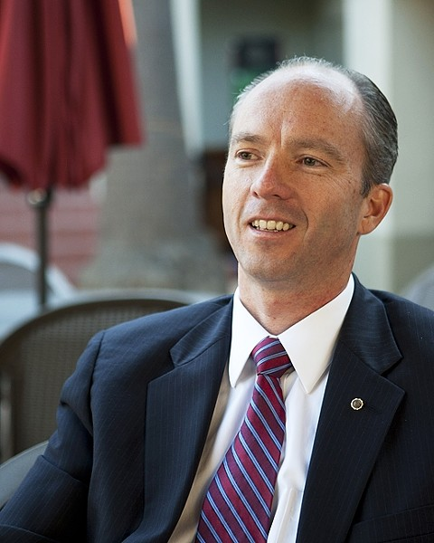 HOT AND BOTHERED:  Dan Dow and the SLO County Board of Supervisors exchanged words over his use of outside legal counsel in an ongoing disagreement over compensation time given to deputy district attorneys. - FILE PHOTO BY STEVE E. MILLER