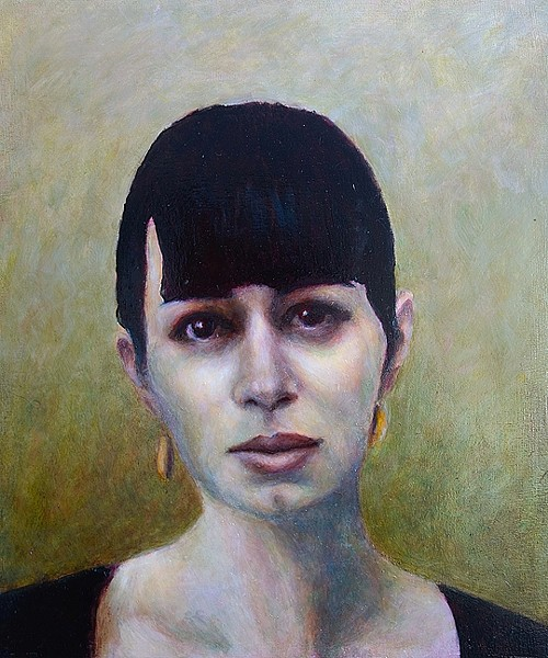 STILL LINN:  This portrait of 'Tribune' writer Sarah Linn is one of a trio Scott painted. - IMAGE BY DAVID SETTINO SCOTT