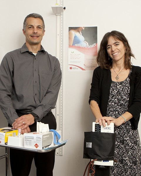 WEIGHT WATCHERS:  Todd Hagobian and Suzanne Phelan, both kinesiology professors at Cal Poly, are leading twin studies that seek to assess the impact of lifestyle interventions on the health and fitness of pregnant and postpartum mothers, as well as their partners. - PHOTO BY STEVE E. MILLER