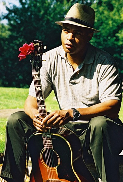 FROM BROADWAY TO PASO :  Actor, director, writer, composer, musician—and most importantly bluesman—Guy Davis plays the next SLOfolks outdoor concert on July 23 at Castoro Cellars. - PHOTO BY ANIKE ROBINSON