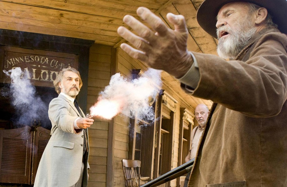 BANG! BANG! :  Is Christoph Waltz (left), who won a Best Supporting Actor award as Col. Hans Landa in 2010's Inglourious Basterds, about to get his second as Dr. King Schultz in Django Unchained? - PHOTO COURTESY OF THE WEINSTEIN COMPANY