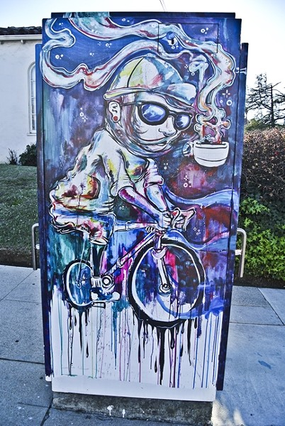 OUTSIDE THE BOX:  A painted utility box near downtown San Luis Obispo could be removed based on some resident complaints. - PHOTO BY MORGAN CHADWELL