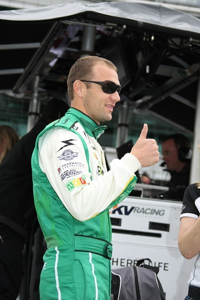 SHOWING THE WAY :  Townsend Bell coaches promising new drivers on the commercial aspects of motor sport. - PHOTO COURTESY OF TOWNSEND BELL