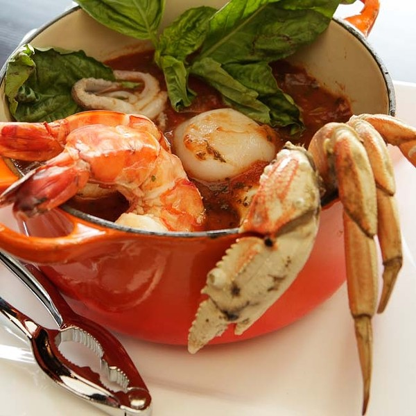 A RICH LUNCH :  Cioppino brimming with seafood is now available for lunch on Mondays at Ciopino. - PHOTO BY STEVE E. MILLER