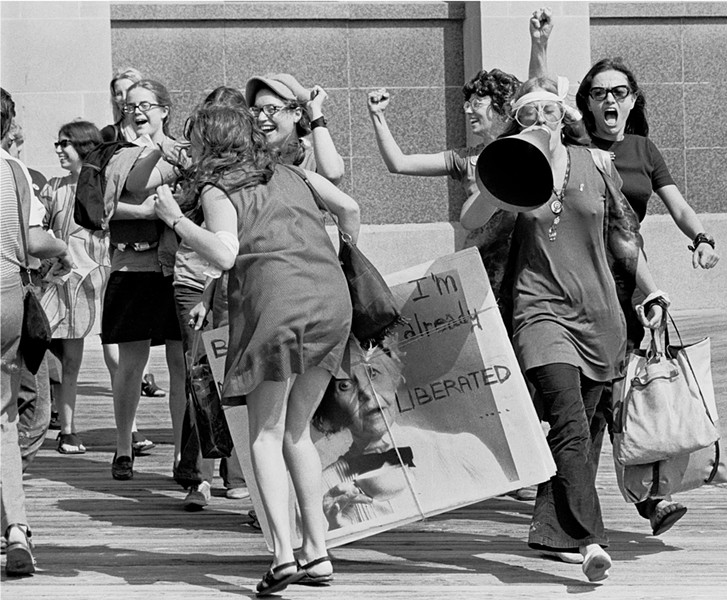 ANTI-MISS AMERICA DEMONSTRATION, 1969: - PHOTO COURTESY OF SANTI VISALLI