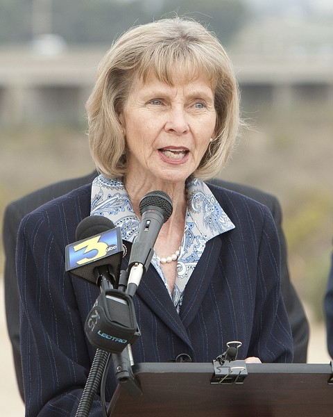 """FRUSTRATION IN WASHINGTON:  Congresswoman Lois Capps (D-Calif.), who represents the Central Coast in the U.S. House of Representatives, said she's frustrated by the partisanship in Washington and tired of """"jumping from crisis to crisis."""" - FILE PHOTO BY STEVE E. MILLER"""