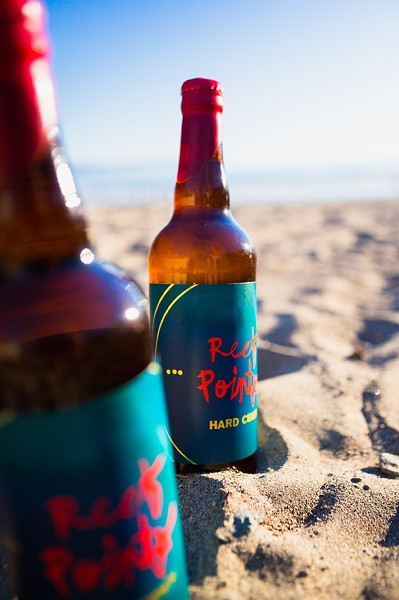 SURF'S UP:  Reef Points Cider's flagship offering, Kid Neptune, is crisp, barrel fermented, bottle conditioned, and bone dry. - PHOTO BY KAORI FUNAHASHI