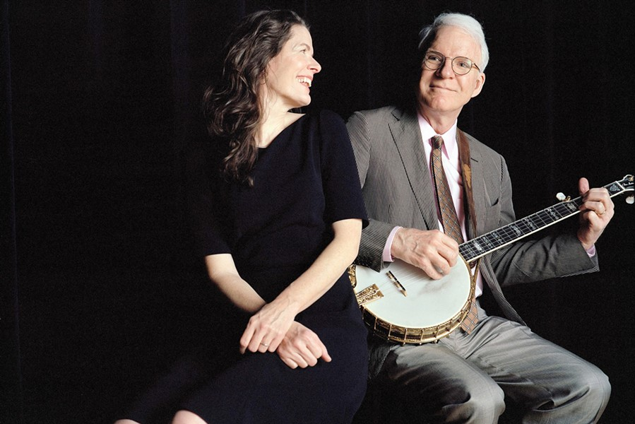 STEVE & EDIE!:  Steve Martin and Edie Brickell play Vina Robles Amphitheatre on Oct. 8. - PHOTO COURTESY OF STEVE MARTIN AND EDIE BRICKELL