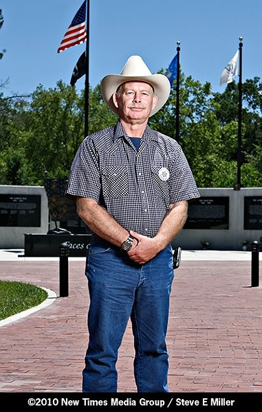 BUDGET CONCIOUS :  Mark Adams, a Sheriff's Department veteran of 22 years, vows to cut waste and restore public trust. - PHOTO BY STEVE E. MILLER