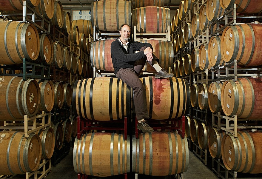TOP MAN :  Stephen Ross Dooley owns Stephen Ross winery, which is especially notable for Pinot Noir. - PHOTO BY STEVE E. MILLER)