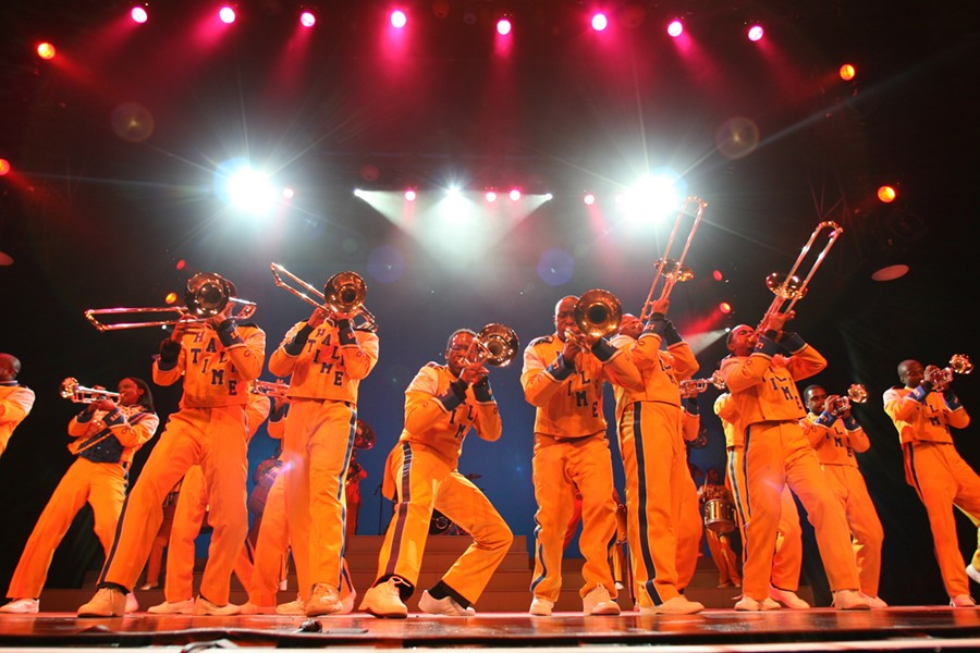 THAT'S ENTERTAINMENT! :  You want showmanship? Look no further than Drumline Live, which will light up Cal Poly's Performing Arts Center on Oct. 12. - PHOTO COURTESY OF CAL POLY ARTS