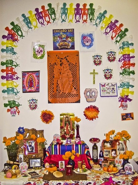 IF YOU BUILD IT, THEY WILL COME:  he Mexican-American Scholarship Cultural and Recreation Association holds a Dia de los Muertos exhibition at the Santa Maria Town Center, which includes the vibrant altars built to memorialize the departed. - PHOTO COURTESY OF MASCARA
