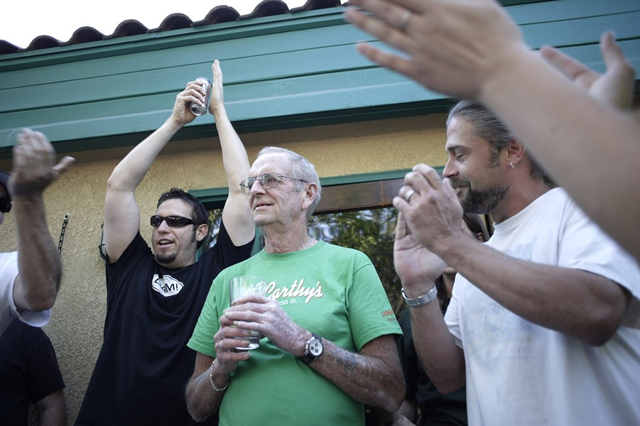 HEY BARTENDER!:  When McCarthy's Irish Pub patrons discovered day bartender Jerry Bender couldn't afford to attend his 50th high school reunion, unbeknownst to him they collected $1,500 toward the approximately $2,000 needed. Further donations can be made for Bender a - PHOTO BY STEVE E. MILLER