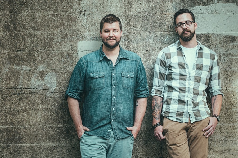 TEAMWORK:  Dan Curcio (left) of Moonshiner Collective recently added drummer Ryan House to his revolving door of collaborators, and they play June 27 at SLO Brew. - PHOTO COURTESY OF MOONSHINER COLLECTIVE