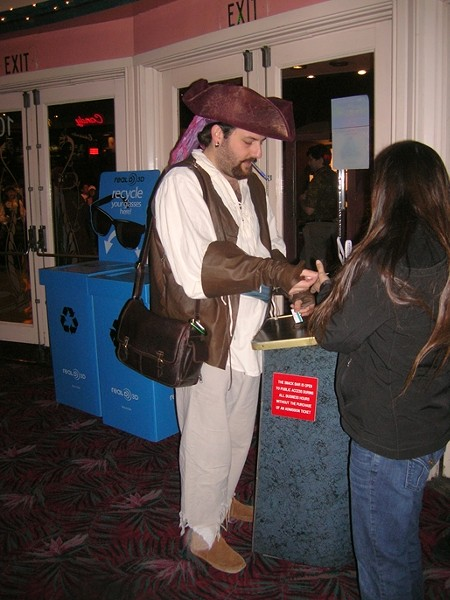 HAVE COSTUME … :  Since I was dressed as a pirate, people came to me with questions. At one point, I was pressed into service ripping admission tickets at the door. - PHOTO BY RYAN MILLER
