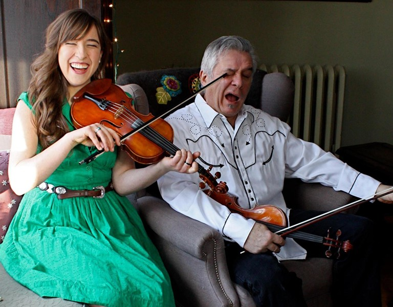 FATHER/DAUGHTER:  Old Time Fiddle Reunion featuring Rafe Stefanini and his daughter Clelia play Oct. 12 at the Red Barn. - PHOTO COURTESY OF CLELIA AND RAFE STEFANINI