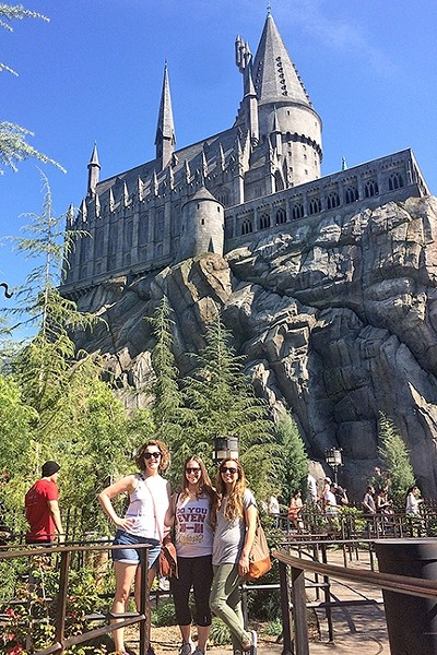 OFF TO HOGWARTS:  Hogwarts School of Witchcraft and Wizardry is modeled after an actual private school in Scotland that sorts its students into four houses. The Hogwarts at Universal Studios majestically sits on a hill overlooking the rest of the Harry Potter world. - PHOTO COURTESY OF RUBEN VIVES