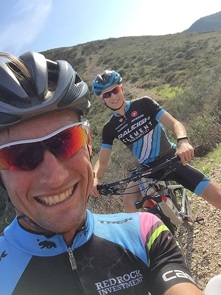 LIKE FATHER, LIKE SON:  Lance and Sean Haidet enjoy a ride at Montaña de Oro over Thanksgiving 2016. - PHOTO COURTESY OF JAANN HAIDET