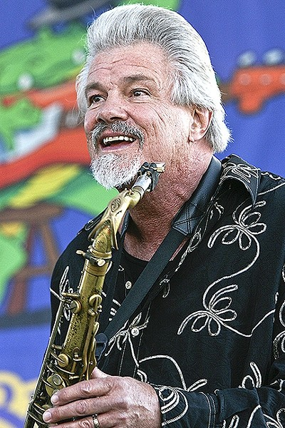 DECADES OF BLUES:  Former Elvin Bishop sideman Terry Hanck brings his band to the SLO Vets Hall on May 13, for the next SLO Blues Society dance concert. - PHOTO BY DON PRIEST