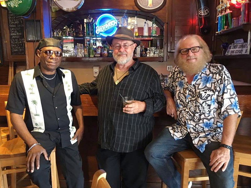 LUCKY 8 (Left to right) Original Blues Master Jam members Rick Pittman, Craig Louis Dingman, and Gary Steinmann play the eighth anniversary Blues Masters Blowout on Aug. 30, at Mongo's. - PHOTO COURTESY OF BLUES MASTERS JAM