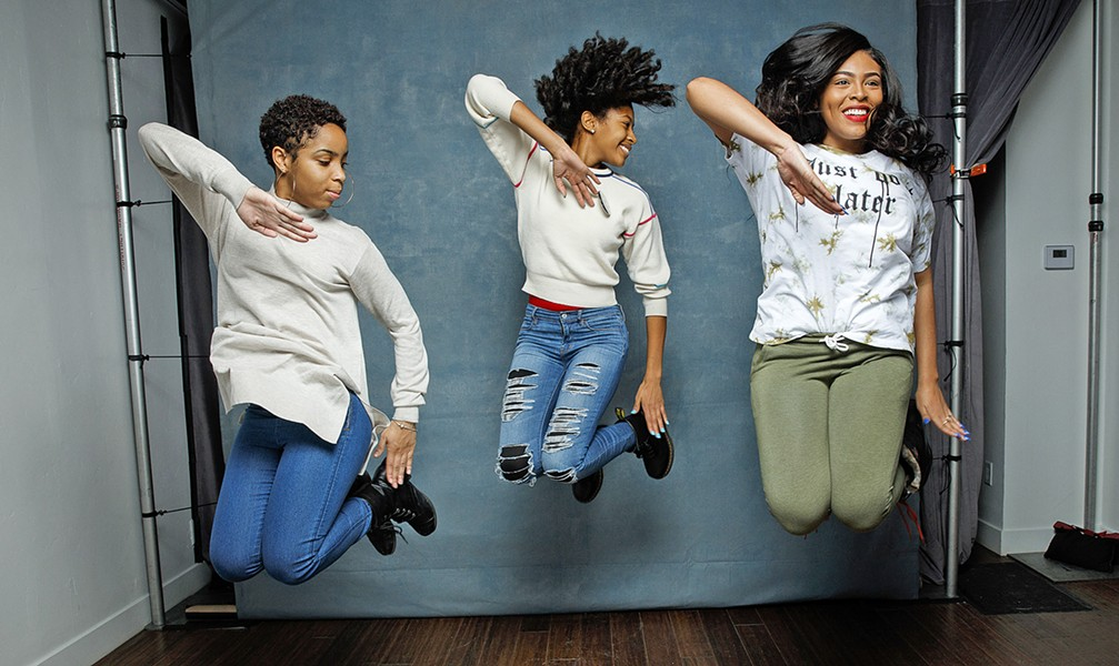 STRONG WOMEN (left to right) Tayla Solomon, Cori Grainger, and Blessin Giraldo are the focus of Step, which chronicles the senior year of an all-girls Baltimore magnet school. - PHOTOS COURTESY OF FOX SEARCHLIGHT PICTURES