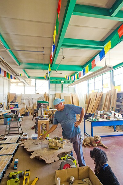 GROWING ORGANIZATION Chris Budny is the facilities manager at the Blue Sky Center in New Cuyama, where he does everything from tend the garden to rehabilitate industrial or office space for use by local organizations or entrepreneurs. - PHOTO BY JAYSON MELLOM