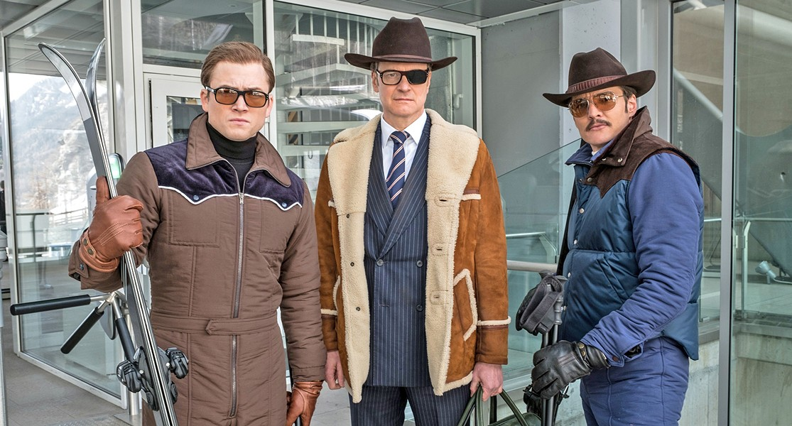 EYE SPY (Left to right) Eggsy (Taron Egerton), Harry Hart (Colin Firth), and Whiskey (Pedro Pascal channeling his inner Burt Reynolds) team up to save drug users from the U.S. President. - PHOTO COURTESY OF TWENTIETH CENTURY FOX