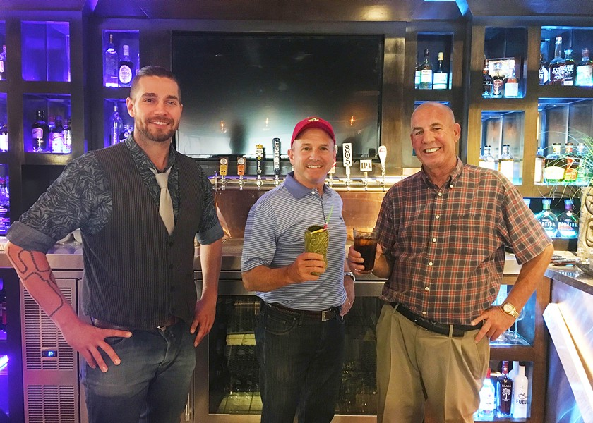 DREAM TEAM The Paso Robles Casino strives to create new nightlife in the city with an eclectic cocktail list and late night hours. Pictured left to right, Tony Bennett, Don Ezzell, and Rob Ezzell. - PHOTO BY KAREN GARCIA