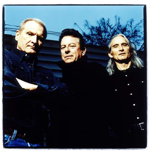 ALT-COUNTRY PROGENITORS The Flatlanders—(left to right) Butch Hancock, Joe Ely, and Jimmie Dale Gilmore—basically invented alt-country, and now the elusive supergroup plays the Fremont Theater on Oct. 5. - PHOTO COURTESY OF THE FLATLANDERS