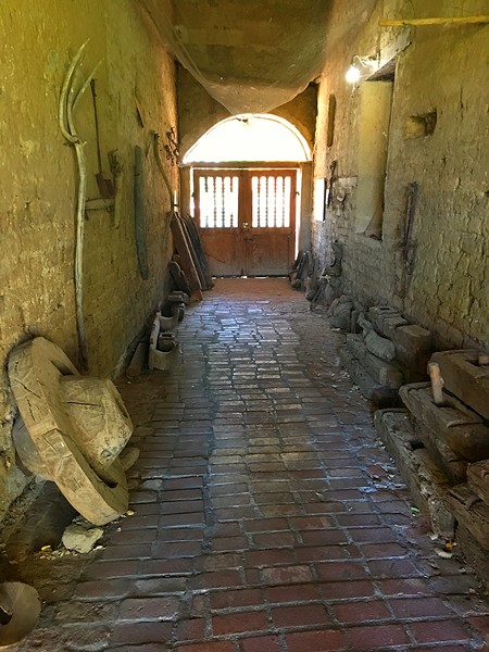 SHEEP CHUTE Mission San Miguel remains much as it was during the Wild West, like this old chute where sheep were brought in to be shorn. - PHOTO BY GLEN STARKEY