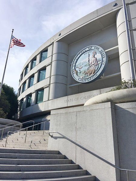 FINAL ARGUMENTS On Nov. 28, PG&E and SLO County officials asked the California Public Utilities Commission to reconsider a tentative plan to approve only 10 percent of the requested funds to shut down Diablo Canyon nuclear power plant. - PHOTO BY PETER JOHNSON