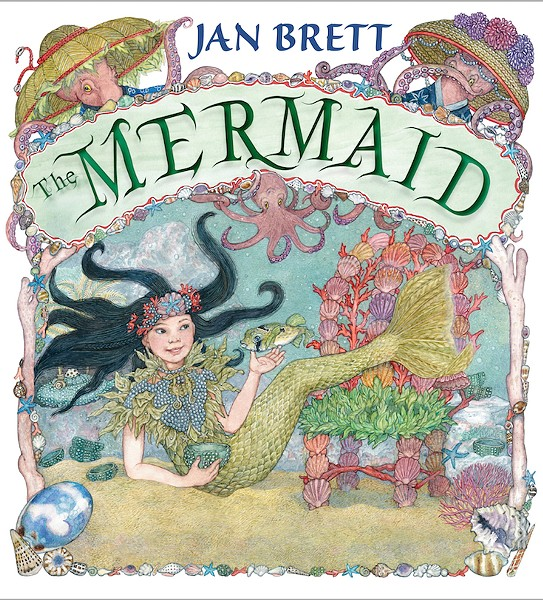 CURIOUS What Jan Brett loves most about the Goldilocks tale is the sense of curiosity it inspires, which led her to write The Mermaid, an under the sea version that features octopuses instead of bears off the coast of Okinawa, Japan. - IMAGE COURTESY OF JAN BRETT