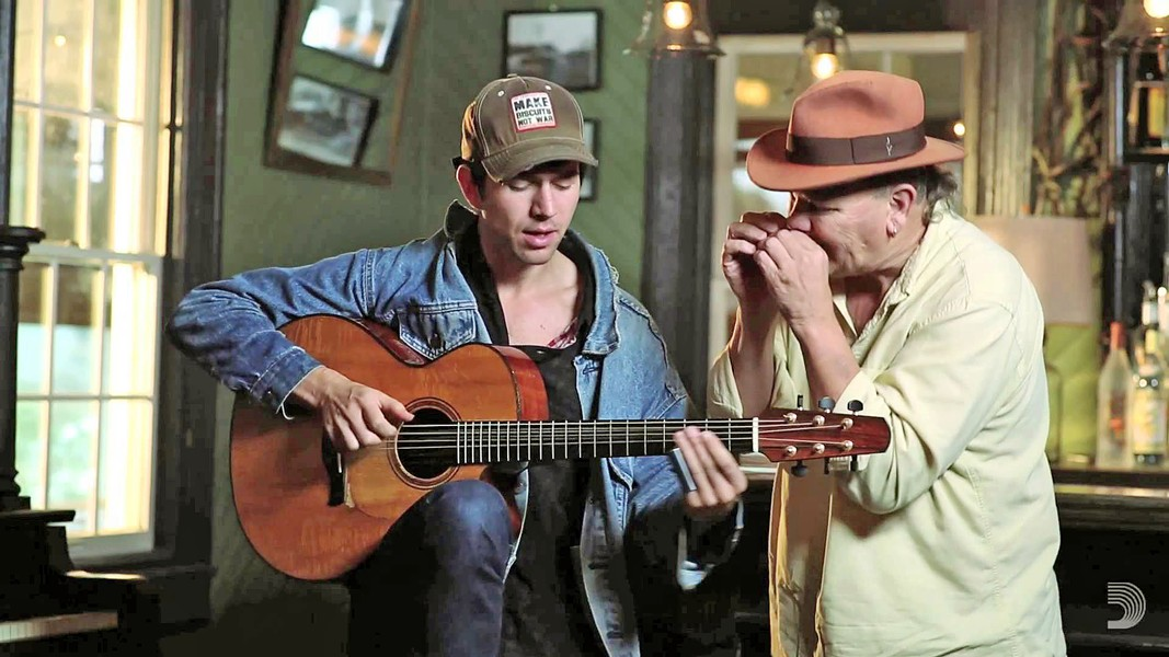TEAMWORK SLOfolks hosts slide guitarist and song-poet David Jacobs-Strain and harmonica player Bob Beach on Jan. 19, at Coalesce Bookstore; and Jan. 20, at Castoro Cellars. - PHOTO COURTESY OF DAVID JACOB-STRAIN AND BOB BEACH