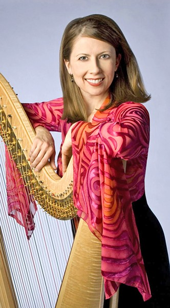 MAGIC STRINGS Grammy nominated harpist Yolanda Kondonassis will perform with the SLO Symphony on Feb. 3, in the PAC in SLO. - PHOTO COURTESY OF YOLANDA KONDONASSIS