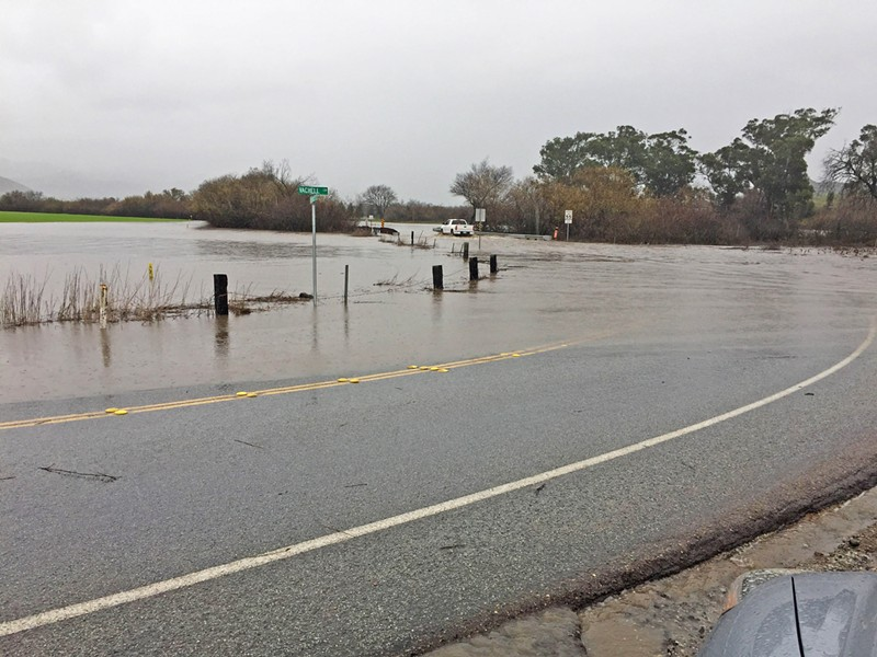 SETTLED Three SLO residential groups settled a lawsuit with the city and the Avila Ranch developer over concerns about the project's impacts, like traffic safety on Buckley Road when it floods at Vachell Lane. - PHOTO COURTESY OF JIM WALDSMITH
