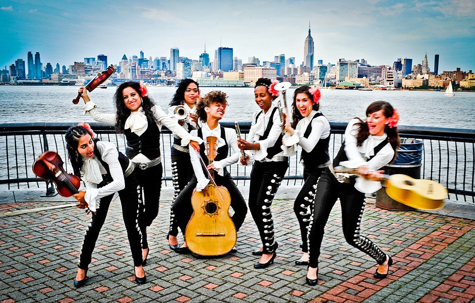 REGLA DE LAS MUJERES! The all-female mariachi group Mariachi Flor de Toloache plays the Clark Center's GlobalFEST—The New Golden Age of Latin Music on March 11. - PHOTO COURTESY OF MARIACHI FLOR DE TOLOACHE