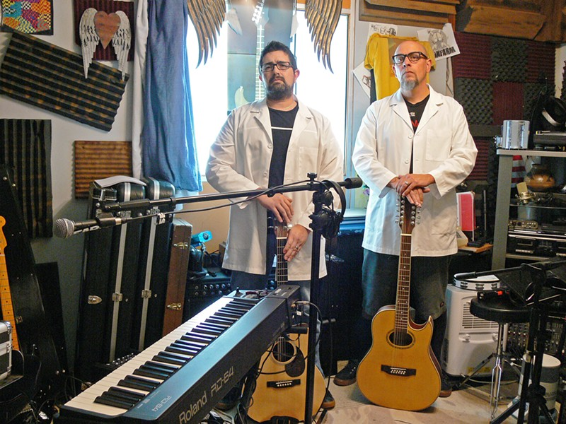 POWER DUO Salinas-based acoustic style power duo Six String Pharmacy plays the Frog and Peach on March 15. - PHOTO COURTESY OF SIX STRING PHARMACY