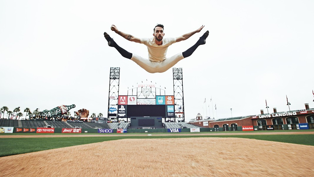 OUT OF THE PARK Professional dancer Ben Needham-Wood (pictured) teamed up with his dancer friend Weston Krukow and his baseball legend dad, Mike, to create the film Baseballet: Into the Game, which compares the similarities in the movements found in dance and baseball. - PHOTO COURTESY OF BEN NEEDHAM-WOOD