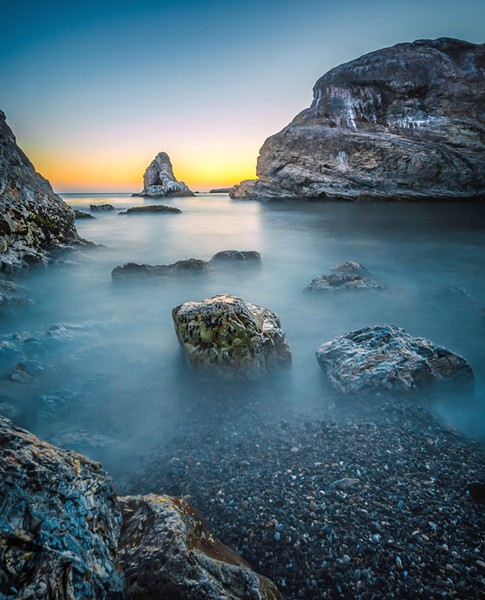 SHARED SPACES While San Luis Obispo photographer Casey Wieber occasionally likes to capture urban decay in nature with his photos, he prefers that we all leave natural spots in pristine condition, like this shot of Shell Beach. - PHOTO COURTESY OF CASEY WIEBER