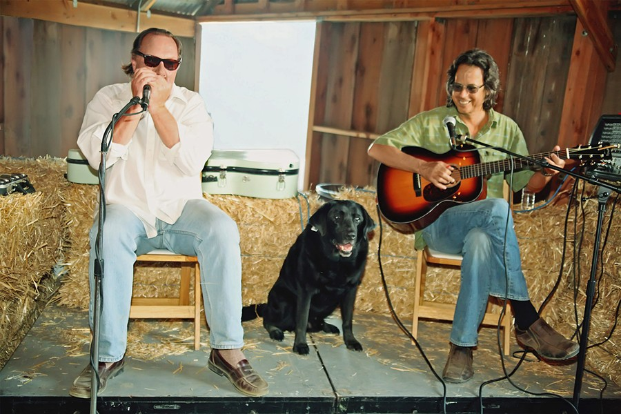 OLD-TIME FUN Guitar and harmonica blues duo Tom Ball and Kenny Sultan play The Red Barn Community Music Series in Los Osos on April 7. - PHOTO COURTESY OF TOM BALL AND KENNY SULTAN
