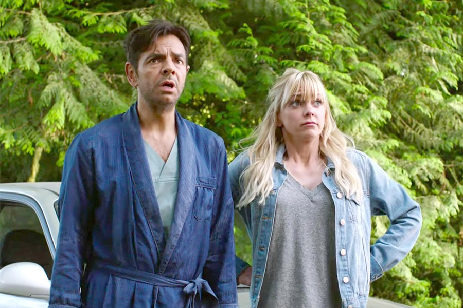 SURREAL After losing his memory, a wealthy playboy (Eugenio Derbez) is convinced he's a contractor married to his former cleaning lady (Anna Faris) in Overboard. - PHOTO COURTESY OF PANTELION PICTURES