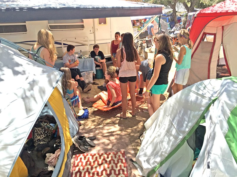 THE KIDS ARE ALRIGHT Camp ZanzaBahr is a kid-friendly camp that shares communal meals and loves visitors, especially ones with instruments. - PHOTO COURTESY OF CHRIS BAHR