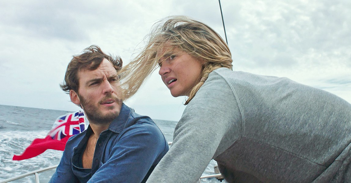 INTO THE STORM Avid sailors Richard Sharp (Sam Clafin) and Tami Oldham (Shailene Woodley) set off on a cross-ocean adventure but encounter a devastating hurricane. - PHOTO COURTESY OF LAKESHORE ENTERTAINMENT