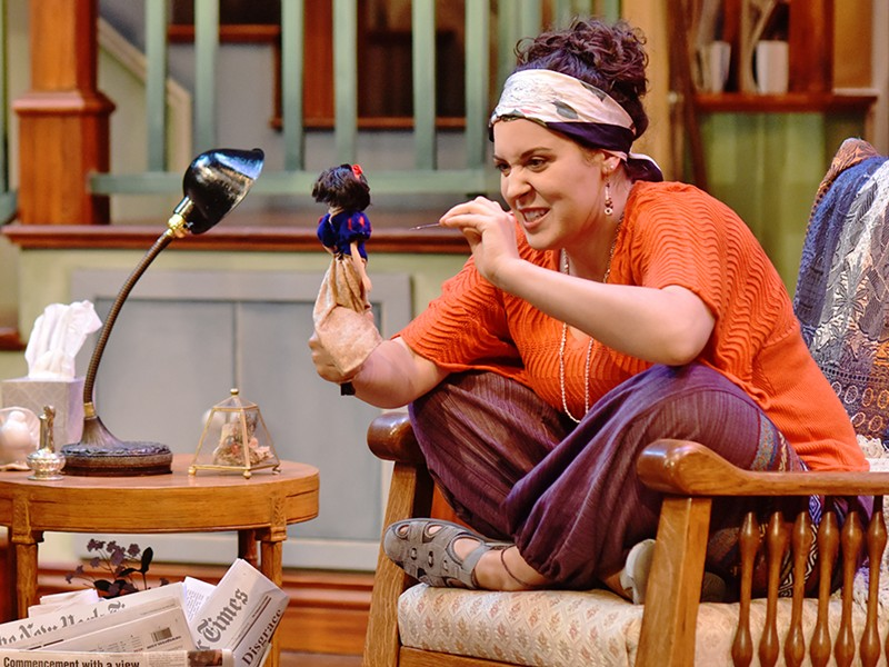 CHEKHOV OUT THIS PLAY Annali Fuchs-Wackowski is a scene-stealer as Cassandra, the tormented prophet with a penchant for voodoo, in PCPA's production of Vanya and Sonia and Masha and Spike. - PHOTO COURTESY OF LUIS ESCOBAR REFLECTIONS PHOTOGRAPHY STUDIO