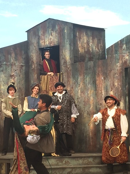 CONFESSIONS OF LOVE The runaways find Orlando's poetic confessions of love strewn across the forest. - PHOTO COURTESY OF THE CENTRAL COAST SHAKESPEARE FESTIVAL