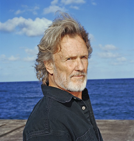 AMERICAN TREASURE Amazing singer-songwriter Kris Kristofferson plays free at the Mid-State Fair on July 28. - PHOTO COURTESY OF KRIS KRISTOFFERSON
