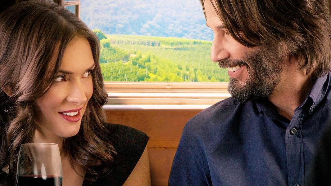 LOCAL LOCATION Disagreeable wedding guests Lindsay (Winona Ryder) and Frank (Keanu Reeves) fall for each other in Destination Wedding, which was filmed in SLO County. - PHOTO COURTESY OF THEFYZZ